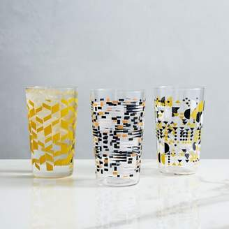west elm Mid-Century Patterned Glassware
