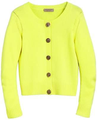 Burberry Bird Button Cashmere Cardigan