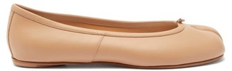 Maison Margiela Tabi Split Toe Leather Flats - Womens - Nude