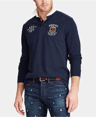 Polo Ralph Lauren Men's Big & Tall Classic Fit Mesh Rugby Shirt