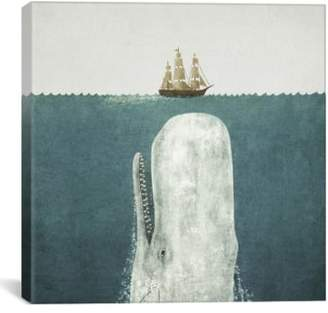 iCanvas 'White Whale Square - Terry Fan' Giclee Print Canvas Art