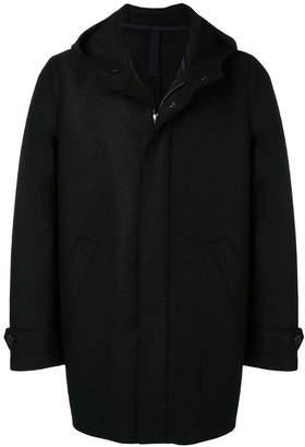 Harris Wharf London zipped hooded coat