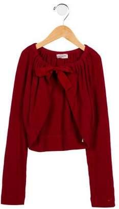 MonnaLisa Girl's Cropped Knit Cardigan