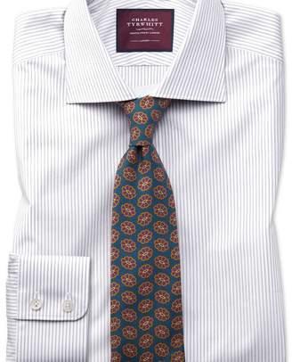 Charles Tyrwhitt Classic fit grey stripe luxury shirt