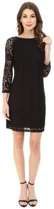 Laundry by Shelli Segal Lace T-Body 3/4 Sleeve Dress Women's Dress