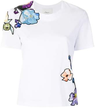 3.1 Phillip Lim floral-embroidered T-shirt