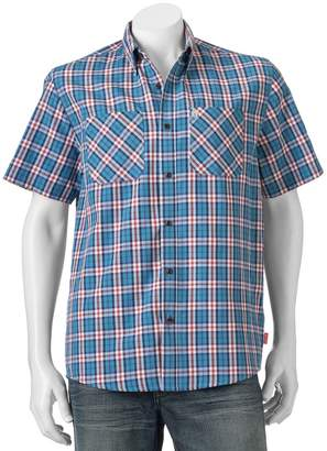 Coleman Men's Classic-Fit Textured Plaid Performance Button-Down Shirt