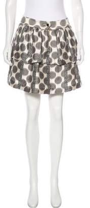Leifsdottir Silk-Blend Mini Skirt