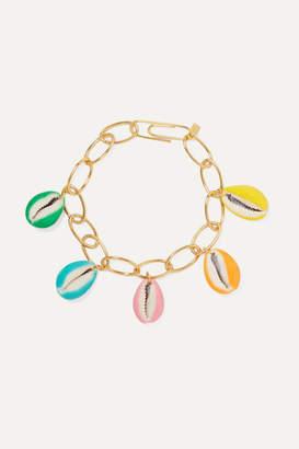 Aurelie Bidermann Merco Gold-plated, Shell And Enamel Bracelet