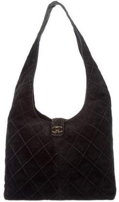 Chanel Quilted Suede Hobo