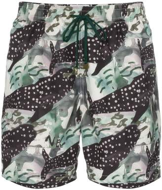 Trunks Timo whale print drawstring swim shorts