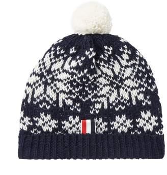 Thom Browne Snowflake Fair Isle Pom-Pom Hat