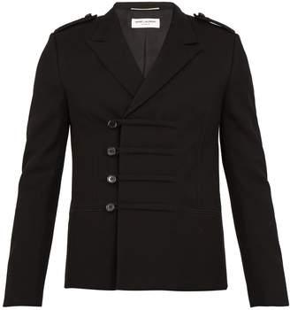 Saint Laurent Peak-lapel wool military jacket
