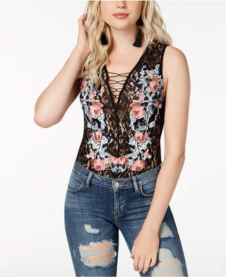 GUESS Eden Embroidered Lace Bodysuit