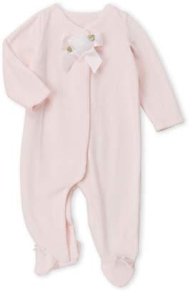 Baby Essentials Miniclasix (Newborn Girls) Pink Velour Bow Footie