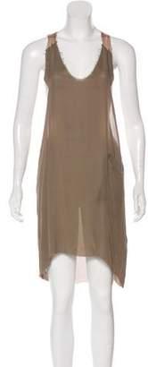 Raquel Allegra Sleeveless Silk Dress