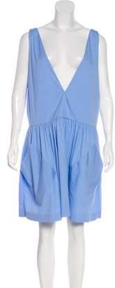 Milly V-Neck Knee-Length Dress