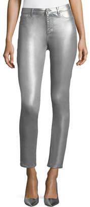 Elie Tahari Azella Metallic Skinny Jeans