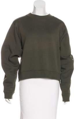 Acne Studios Zip-Accented Long Sleeve Sweatshirt