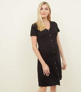 New Look Maternity Black Button Front Tea Dress