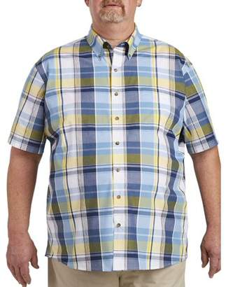 Canyon Ridge Men's Big & Tall Easy Care Short Sleeve Plaid Shirt, up to size 7XL