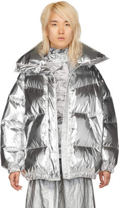 MM6 MAISON MARGIELA Silver Limited Edition Puffer Down Jacket