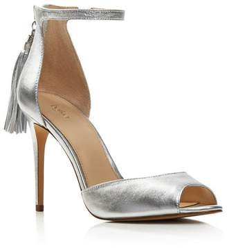 Botkier Anna Leather Ankle Strap High-Heel Sandals