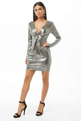 Forever 21 Twist-Front Metallic Homecoming Dress