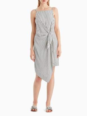 Striped Sleeveless Tie Front Dress