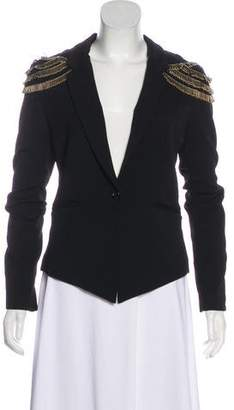 Elizabeth and James Embellished Shoulders Notch-Lapel Blazer