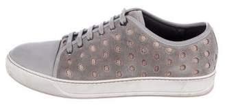 Lanvin Laser Cut Cap-Toe Sneakers
