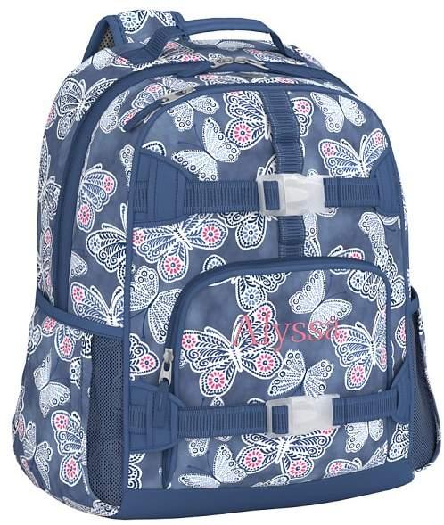 Large Backpack, Mackenzie Indigo Butterflies