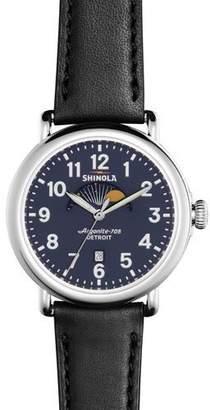 Shinola Men's 41mm Runwell Moon Phase Watch, Black