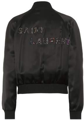 Saint Laurent Satin bomber jacket