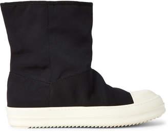 Rick Owens Black Nylon Ankle Boots