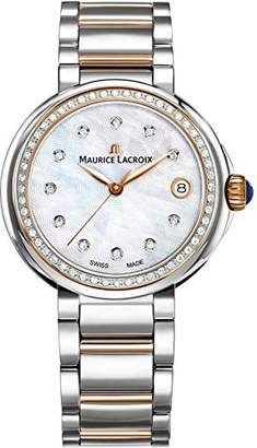 Maurice Lacroix Women's Fiaba Silver and Gold Swiss-Quartz Watch with Two-Tone-Stainless-Steel Strap