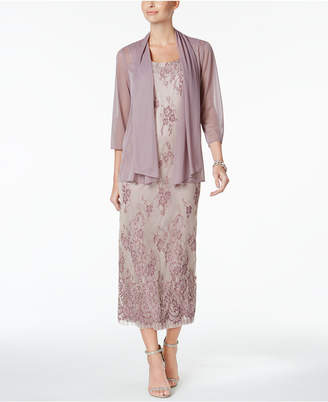 R & M Richards Petite Lace Gown And Jacket $129 thestylecure.com