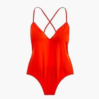 J.Crew Playa Key West X-back one-piece swimsuit with trim
