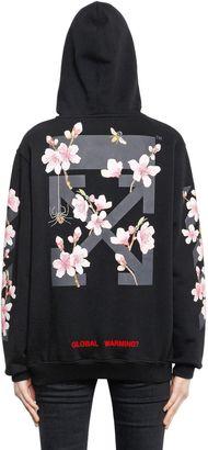 Cherry Blossom Hooded Cotton Sweatshirt $614 thestylecure.com