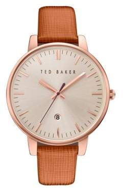 Ted Baker Kate Date Displayed Leather Strap Watch
