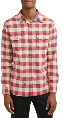 Lee Men's Long Sleeve Plaid Poplin Woven, Available up to size XL