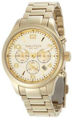 Nautica (ノーティカ) - ノーティカWomen 's n20061 m BFD 101ゴールドダイヤル腕時計