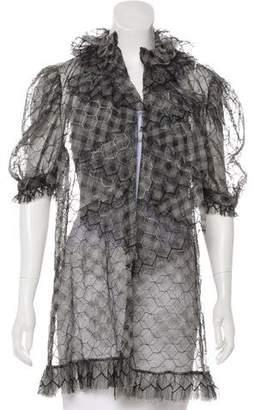 Chanel Mesh Gingham Coat