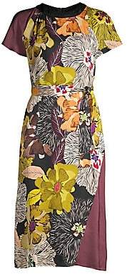 Etro Women's Solig Floral Cap Sleeve Midi Dress