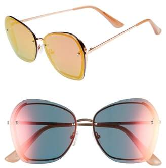 Leith 61mm Rimless Square Sunglasses