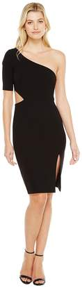 Jill Stuart One Shoulder Mini with Sleeve/Side Cut Out Women's Dress
