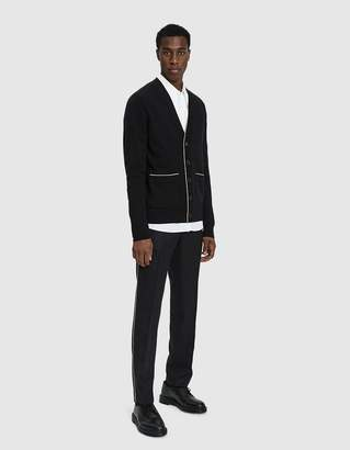 Dries Van Noten Knit V-Neck Sweater in Black