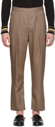 Lemaire Brown Elasticized Trousers