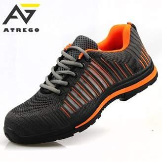 Meigar Men's Safety Toe Lightweight Safety Sneaker Steel Toe Bulletproof-Sole Breath Outdoor Work Shoes