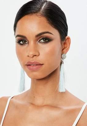 Missguided Diamante Tassel Earrings